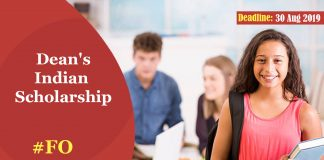 Dean's Indian Scholarship for International Relations and Diplomacy