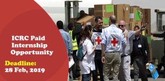 ICRC Paid Internship Opportunity 2019