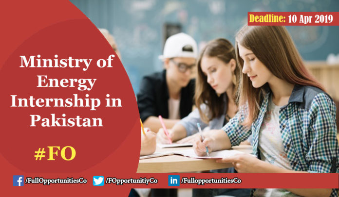 Ministry of Energy Internship in Pakistan