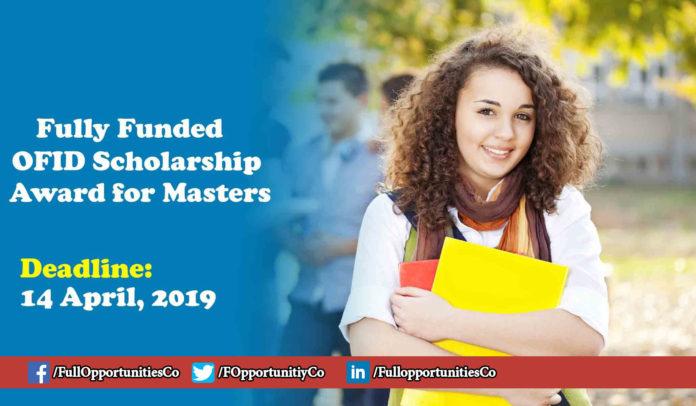 OFID Scholarship Award for Masters