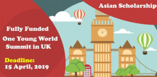 One Young World Summit in London Asian Scholarship 2019