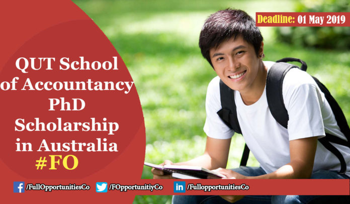 QUT School of Accountancy PhD Scholarship