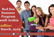 Red Sea Summer Program Saudi Arabia 2019