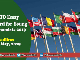 WTO Essay Award for Young Economists 2019