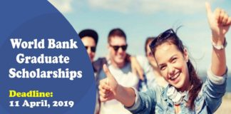 World Bank Graduate Scholarships for Developing Countries