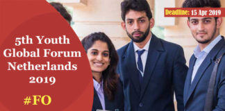 5th Youth Global Forum Netherlands 2019