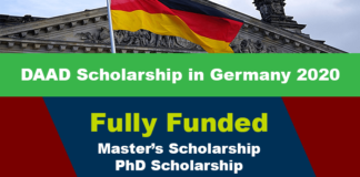 DAAD Scholarship in Germany 2020 (Fully Funded)