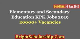 Elementary and Secondary Education KPK Jobs 2019