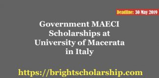 Government MAECI Scholarships at University of Macerata in Italy 2019