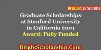 Graduate Scholarships at Stanford University in California