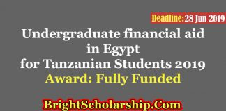 Undergraduate financial aid in Egypt for Tanzanian Students 2019