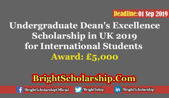 Dean's Excellence funding for International Students