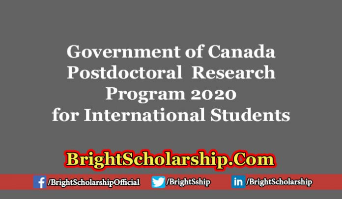 Government of CanadaPostdoctoral Research Program 2020