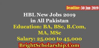 HBL Jobs 2019 Latest in All Pakistan for Male & Female – Apply Online