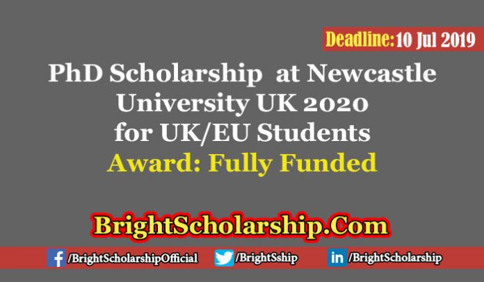 PhD Studentship for UK and EU Students at Newcastle University 2020