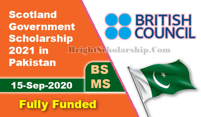 Scotland Government Scholarship 2021 for Pakistani Students
