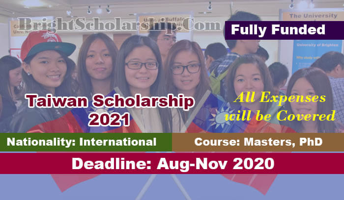 Fully Funded Taiwan Scholarship 2021 for International ...