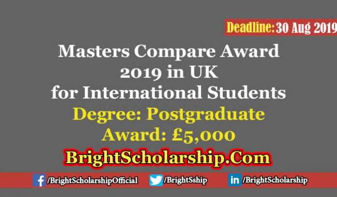 Masters Compare Scholarship 2019