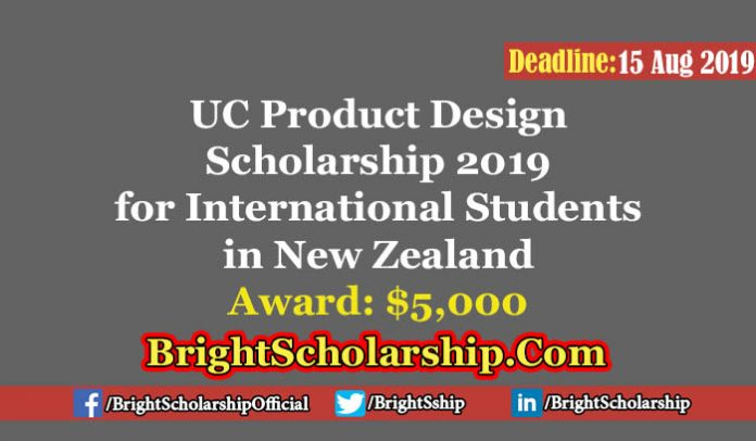 UC Product Design Scholarship 2019 in New Zealand