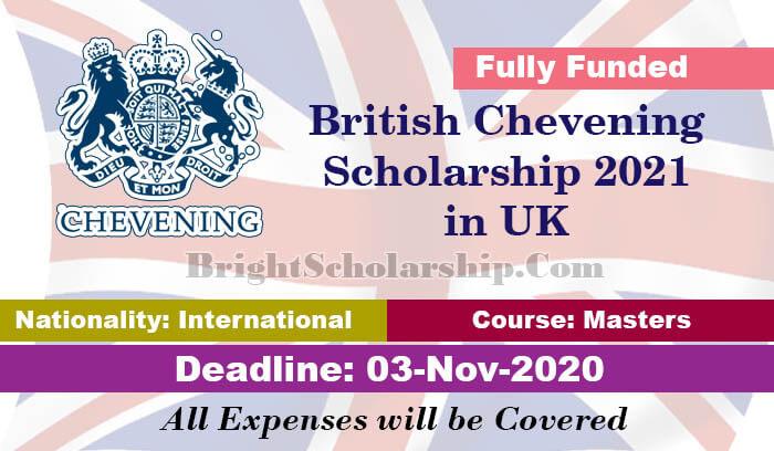 British Chevening Scholarship 2021 in United Kingdom ...