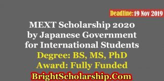 Japanese Government Scholarship 2020 Fully Funded