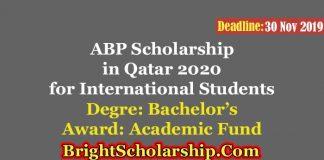 ABP funding for Non-Qatari Students in Qatar 2020