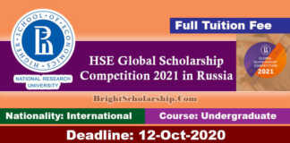 HSE Global Scholarship Competition 2021 in Russia (Funded)
