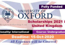 Reach Oxford Scholarships 2021 in United Kingdom (Fully Funded)