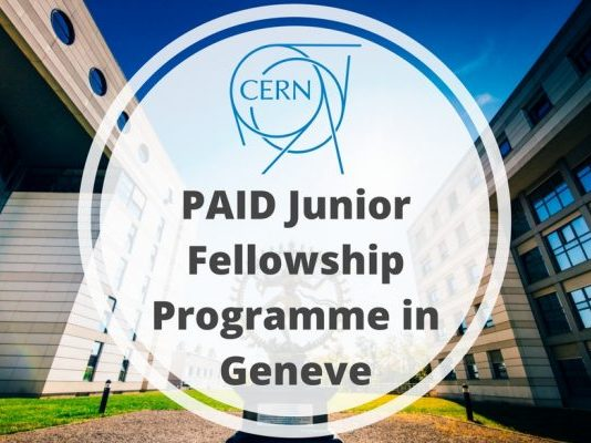 CERN Junior Fellowship Program 2020 in Switzerland