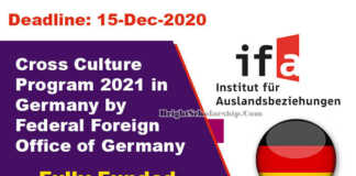 Cross Culture Program 2021 in Germany (Fully Funded)