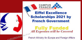 Eiffel Excellence Scholarships 2021 by French Government (Fully Funded)