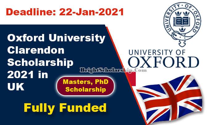 Oxford University Clarendon Scholarship 2021 in UK (Fully ...