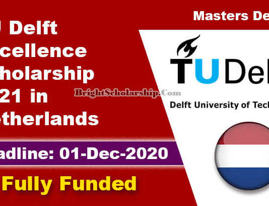 TU Delft Excellence Scholarship 2021 in Netherlands (Fully Funded)