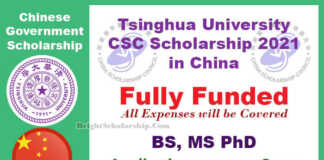 Tsinghua University CSC Scholarship 2021 in China (Fully Funded)