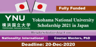 Yokohama National University Scholarship 2021 in Japan (Fully Funded)