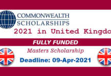 Commonwealth Shared Scholarship 2021 in UK (Fully Funded)