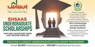 HEC Ehsaas Undergraduate Scholarship 2020