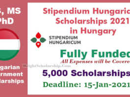 Stipendium Hungaricum Scholarships 2021 in Hungary (Fully Funded)