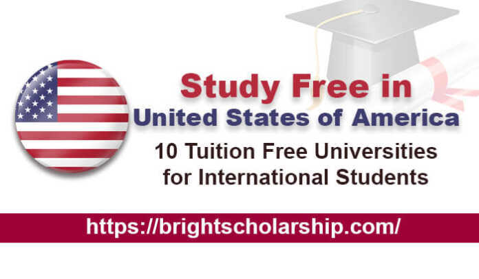 10 Universities in USA Where Study is Free for International Students