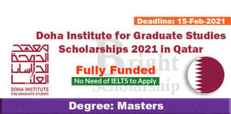 Doha Institute for Graduate Studies Scholarships 2021 in Qatar (Fully Funded)