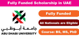 Abu Dhabi University Scholarships 2020 in UAE