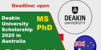 Deakin University Scholarship 2020 in Australia (Fully Funded)