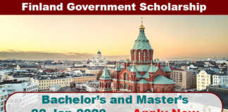 Finland Government Scholarship 2020 in Finland