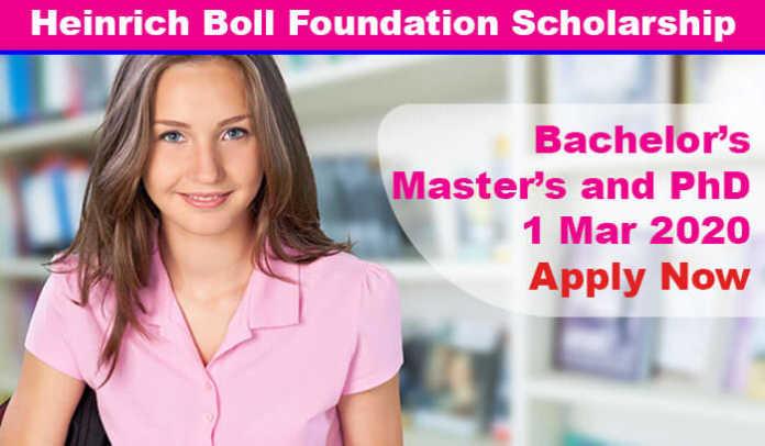 Heinrich Boll Foundation Scholarships 2020 in Germany