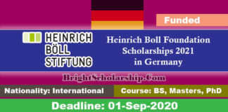Heinrich Boll Foundation Scholarships 2021 in Germany (Funded)