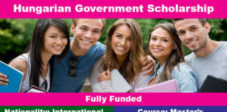Hungarian Government Scholarship 2020 (Fully Funded)