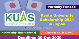 Kyoto University of Advanced Science Scholarship 2021 in Japan (Funded)