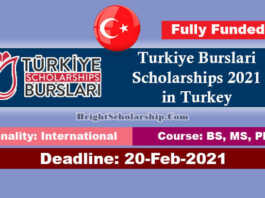 Turkiye Burslari Scholarships 2021 in Turkey (Fully Funded)