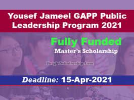 Yousef Jameel GAPP Public Leadership Program 2021 (Fully Funded)