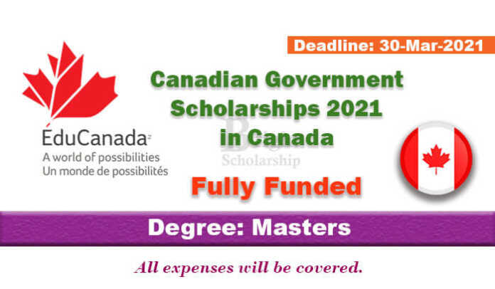 Canadian Government Scholarships 2021 in Canada (Fully Funded)